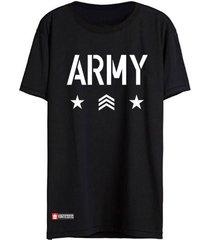camiseta vinteseis army preta