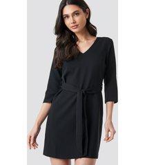 trendyol basic belted dress - black