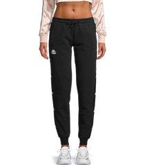 kappa women's bana brily cotton-blend sweatpant joggers - black - size s
