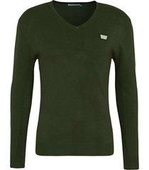 antony morato sweater v neck&plaquette green 4050