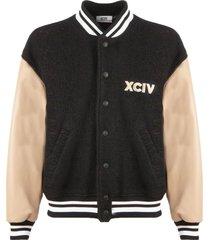gcds black and beige bomber jacket