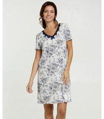 camisola estampa floral manga curta marisa feminina