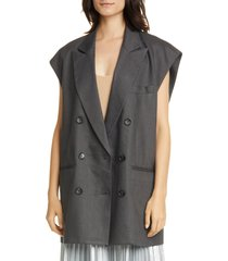 women's tibi wesson oversize double breasted vest