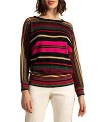 kanji striped merino wool sweater