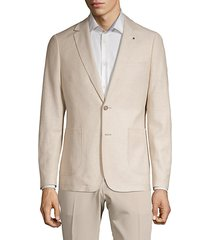 extra slim fit notch lapel linen blend sport jacket