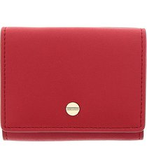 borbonese borbonese small red wallet