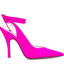 the attico tie ankle pointed pumps - pink