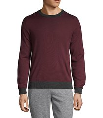 colorblock wool blend sweater