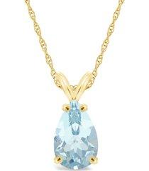 aquamarine (2-5/8 ct. t.w.) pendant necklace in 14k yellow gold