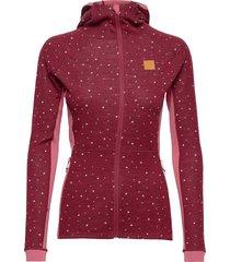 maven wool fullzip hood sweat-shirts & hoodies fleeces & midlayers rood johaug
