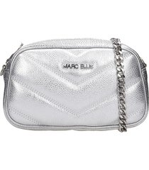 marc ellis bonnie clutch in silver leather