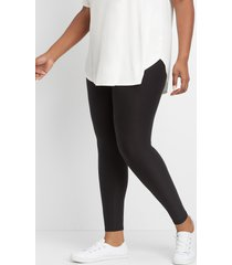 maurices plus size womens high rise ultra soft black leggings