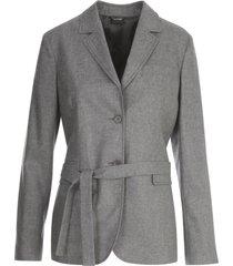 aspesi flannel oversized jacket w/belt