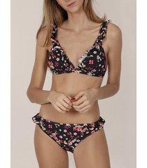 bikini admas 2-delige driehoekige bikiniset night liberty zwart