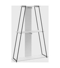 estante roupeiro c/ prateleira branco tx be mobiliário