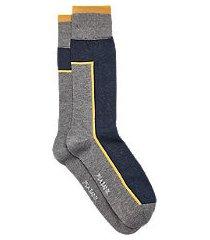 travel tech color block socks, 1-pair