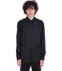 ermenegildo zegna shirt in black cotton