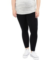 motherhood maternity plus size basic leggings