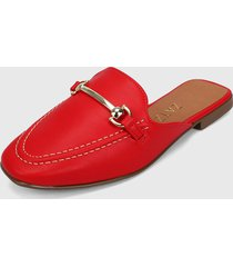 slipper rojo-plateado zatz