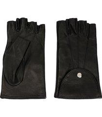 manokhi short fingerless gloves - black