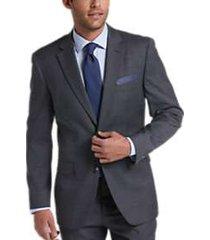 perry ellis premium charcoal sharkskin slim fit tech suit