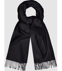 reiss saskia - lambswool cashmere blend scarf in ink, womens