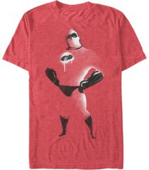 disney pixar men's the incredibles painted distressed mr. incredible short sleeve t-shirt