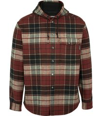 wolverine men's bucksaw bonded shirt jac redwood plaid, size s
