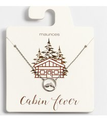 maurices womens dainty cabin fever necklace gray