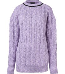 cashmere in love cable knit sweater - purple