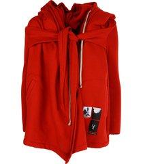 drkshdw hooded wrap woven sweatshirt