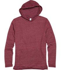 alternative apparel burgundy eco jersey hoodie pullover
