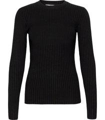 5x5 solid tuba t-shirts & tops long-sleeved zwart mads nørgaard