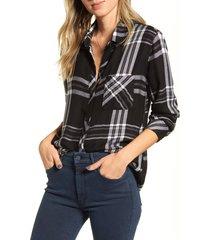 women's rails hunter plaid shirt, size x-small - black