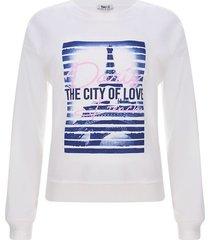 buzo mujer city of love color blanco, talla m