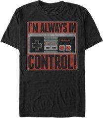 nintendo men's nes controller i'm always in control short sleeve t-shirt