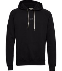 bison hoodie-black hoodie trui zwart forét