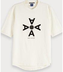 scotch & soda katoenen t-shirt met artwork