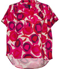 d1. fluid printed desert rose top blouses short-sleeved rosa gant