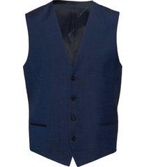 wool cotton tropical waistcoat gilet blauw calvin klein