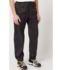 acne studios men's ripstop track pants - black - m