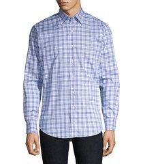 ease crown button-down plaid shirt