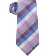 kenneth cole reaction men's ladder plaid slim tie