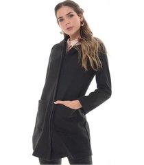 chaqueta para mujer en paño negro color negro talla xs