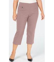 alfani plus size tummy-control capri pants, created for macy's