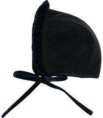 siola ruffled wool hat - blue