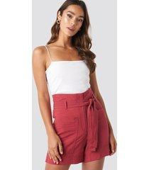 mango pocket shorts - red