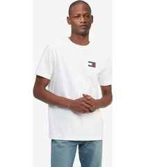 tommy hilfiger badge t-shirt bright white - xl