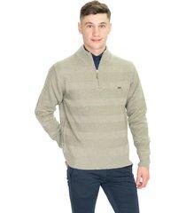 sweater gris pato pampa polera punto combinado