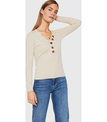 sweater vero moda beige - calce ajustado